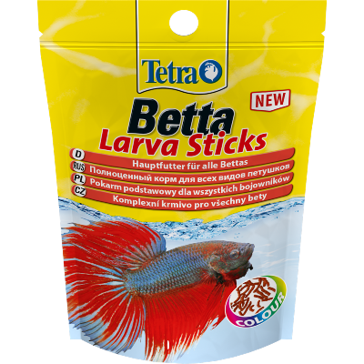 TETRA BETTA LARVA Sticks 5г Корм для лабиринтовых  в форме мотыля
