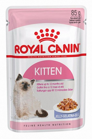 ROYAL CANIN корм для котят пауч комплект KITTEN в желе 3+1 85г. растущих с 4 до 12мясяцев